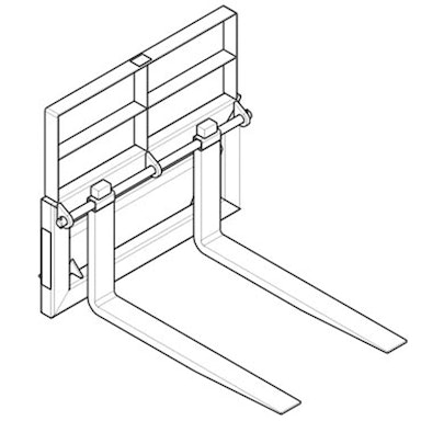 Pallet Forks and Frame – Pin Style – 32 in Tine Length