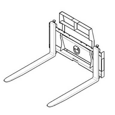 Pallet Forks: Rail Style – Class II – 48 in Tine Length