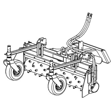 48 in Harley Power Box Rake – Manual Angling